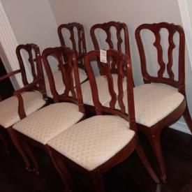 MaxSold Auction: Auction features Nexgrill BBQ, wicker arm chair, Drexel dinning table and chairs, mahogany finish secretary desk, sofa, freezer, Drexel china cabinet and buffet, costume jewellery, upholstered rocking chair, prints, mahogany night table and clothes butler, figurine, Acer monitor, wedding dress and christening gown, and more.