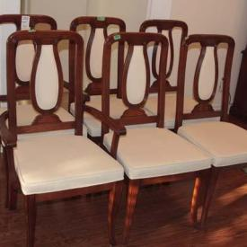 MaxSold Auction: Auction features teacups and saucers, walnut dinning table and chairs, rug, aluminum ladder, christmas lot, dehumidifier, anvil, BBQ, patio set, china cabinet, crystal, sofa, dresser, recliner, silver plated, refrigerator, and more.