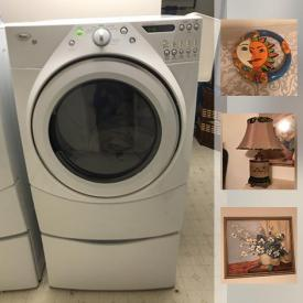 MaxSold Auction: This online auction features a clothes washer, dryer, china sets, lamps, wall art, candles, glassware, birdhouses, holiday decor, electric fireplaces, printer, wall clocks, vases, ping pong table, fertilizer spreader, Christmas tree, kids organ piano, record player, imitation flowers, heaters, organ sheet music, car battery charger and much more.
