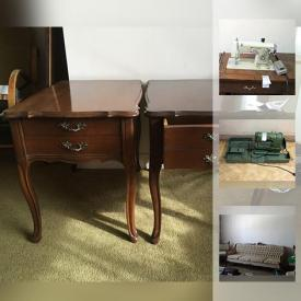 MaxSold Auction: This online auction features FURNITURE; Vintage 4 pieces Newport Chesterfield Co. French provincial chair, two love seats and sofa; China cabinet; dressers; vintage Futon. Antique ice tongs. TOOLS/POWER TOOLS. ELECTRONICS. VINTAGE: Fridge pressure gauge; French 45 rpm records; record players. APPLIANCES: Kenmore washer, dryer and in cabinet sewing machine; Jenn Aire fridge; Admiral stove. Bicycles. YARD AND GARDEN and much more!