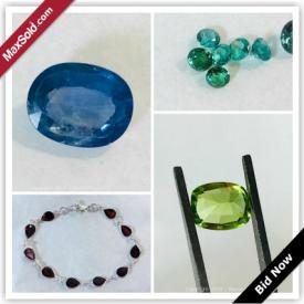 MaxSold Auction: This online auction features gemstones and gemstone jewelry, such as tourmalines, garnets, opals, amethyst, citrine, peridot, blue, green and yellow sapphires; emeralds; blue topaz; Brazilian aquamarine; Baltic amber and more!