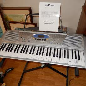 MaxSold Auction: This auction features a Hamilton upright piano, Pioneer turn table, Xbox 360 with Games, NexxThec 61-Key electric keyboard, Nordic Track C2155, legal size basketball net, musical instruments, furniture, art, kitchen accessories and much more!